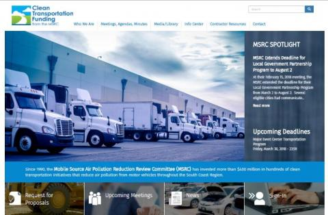 clean transportation funding website home page
